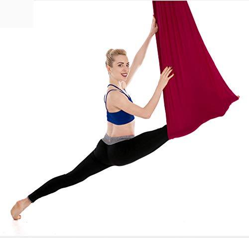 HI SBM Aerial Yoga Hängematte, Silk Yoga Swing Anti Gravity-Burgund