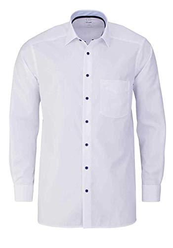 OLYMP Luxor Comfort fit Hemd Langarm New Kent Kragen weiß Größe 45