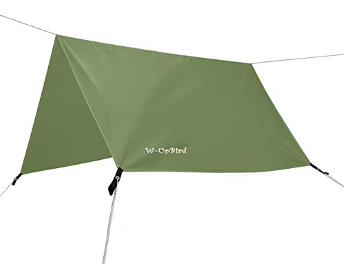 10 x 10 FT Lightweight Waterproof RipStop Rain Fly Hammock Tarp Cover Tent Shelter for Camping...