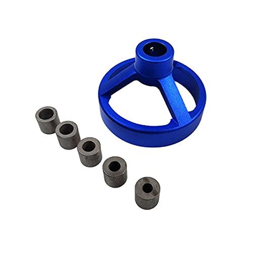 CML Taladro 90 Grados Taladro 3 en uno Guía Perfor bit Puncher Locator Localizador Jig Bisagras Abrezca Herramientas de carpintería 6/7 / 8/9 / 10mm (Color : Blue)