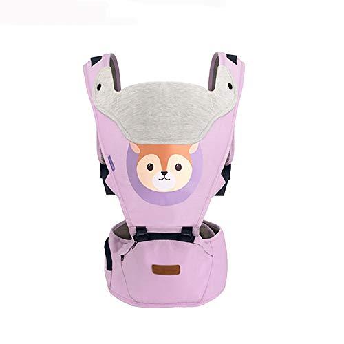 VDSON Infantino Classic Carrier Porte-bébé Slings sécurité bébé ventral Retour Sac à Dos Porte-bébé Wrap for Les Nouveau-nés Enfants en Bas âge (Color : Purple)