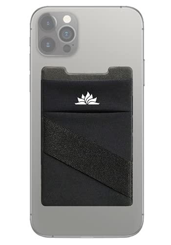 Kartenhalter für Handy | Neue 3-in-1 Handykartenhalter für alle Handyhüllen | Kartenfach, sicheres Geldfach und Fingerband + Starkes 3M Klebeband - 1x Pack