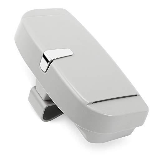 CDXZRZYH Multifunción Auto Auto Eyeglases Clip Tarjeta de boletos Tarjeta de boleto ABS ABS Casas de Coches Cajas Coche Sun Visor Gafas de Sol Titular Accesorios (Color : Gray)
