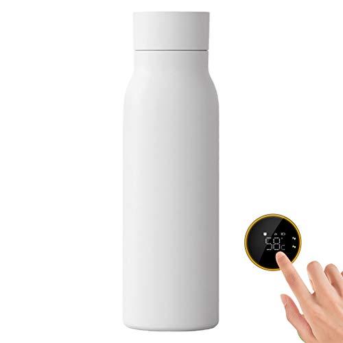 VIVILIAN Smart Wasserflaschentemperatur LCD-Display Vakuumflasche USB-Ladewasserflasche 400 ml Trinkerinnerung Isolierte Flasche