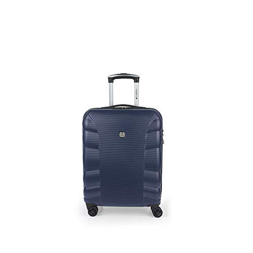 Gabol - London | Maleta de Cabina Rigidas de 40 x 55 x 20 cm con Capacidad para 47 L de Color Azul