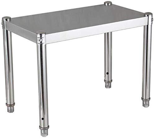 HLD bänkskiva i rostfritt stål, ett lager köksställ, elektrisk förvaring, mikrovågsugn, spishäll, ett lager skrivbord mikrovågsugn hylla (färg: 80 cm, storlek: x 50 x 45)
