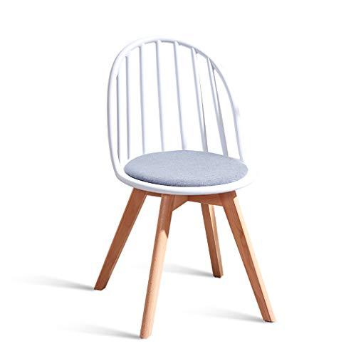 LYQQQQ Taburetes Nordic Silla de Madera sillón hogar Moderno Restaurante Silla Minimalista Sub-Windsor Perezoso sillón Taburete de Madera (Color : White)