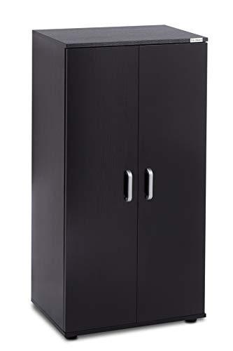 ts-ideen Schuhschrank Kommode Sideboard Standregal Schuhregal Schwarz 55 cm x 110 cm