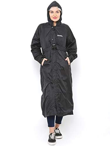ZEEL BLACK RAINWEAR WOMEN RAINSUIT FOR WOMEN XXL