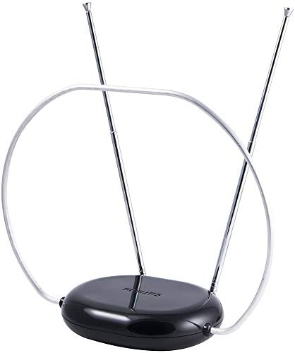 Philips Rabbit Ears Indoor TV Antenna Dipoles and Circular Loop Tabletop Antenna Digital Smart product image