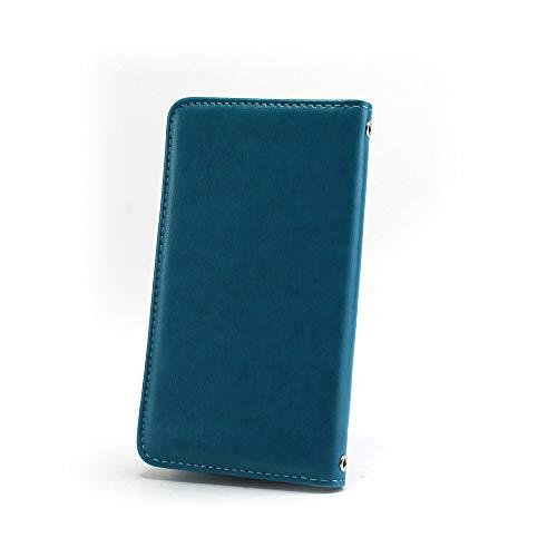 ホワイトナッツ iPhone7 ケース 手帳型 【左利き】 ベルトなし スタイリッシュ ブルー スマホケース アイフォンセブン 手帳 カバー スマホカバー WN-OD495934_ML