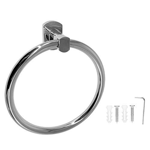 Toalla redonda de anillo, Toalla redonda de estante, Toallero montado en la pared Anillo de acero inoxidable Toallero redondo de baño Accesorio