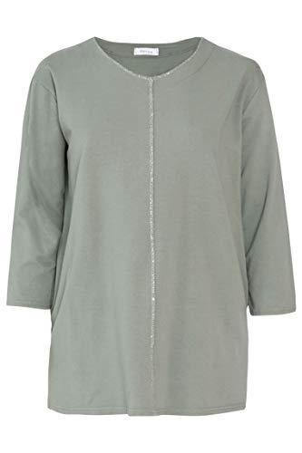 PAPRIKA Damen große Größen Tunika aus Sweatshirt-Stoff mit Glitzerakzenten Rundhals Lange Ärmel