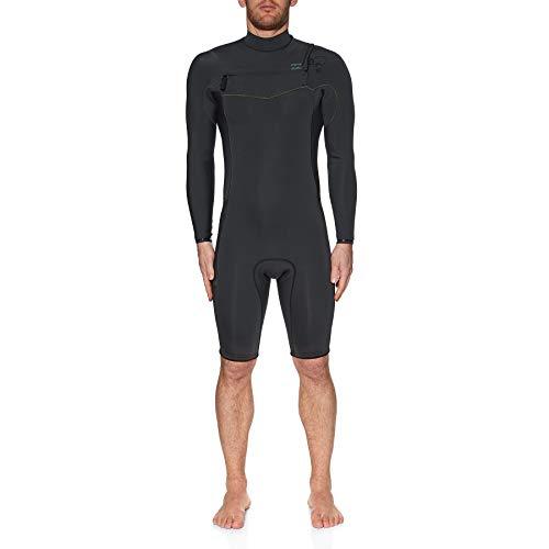 BILLABONG Revolution Mens 2mm Manches Longues Chest Zip Wetsuit - Noir Camo - Couche Thermique Chaud Thermique Couches Furnace Doublure