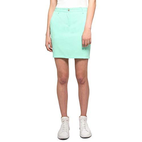 J.Lindeberg Women's Allie Micro Stretch Skirt, Mint, XL
