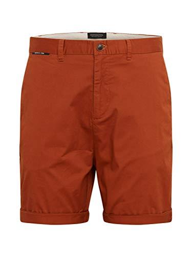Scotch & Soda Herren Classic Chino pima Cotton Quality Shorts, Braun (Tabacco 0082), W36(Herstellergröße: 36)