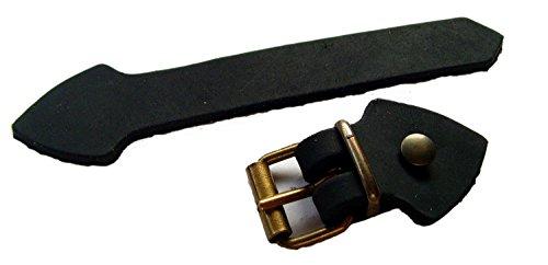 Lederriemen Set mit Schnalle Messing Nieten 5 Pack zum selber basteln 20mm Farbe Schwarz