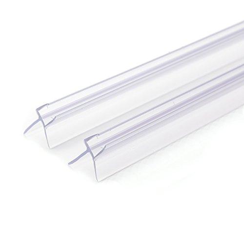2 x 100cm Ersatzdichtung für 6mm Glasdicke Wasserabweiser Duschdichtung Schwallschutz Duschkabine Duschprofil Duschtürdichtung