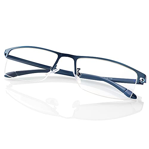 Blisswee ブルーライトカット メガネ パソコン用メガネpcメガネ おしゃれ 眼鏡 有害光線カット 度なし クリアレンズ 男女兼用uvカットブルーライト防止 超軽量 ブルー