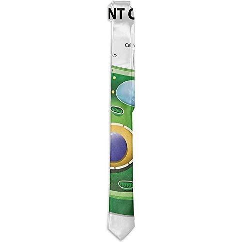 Corbata floral impresa para hombres, Investigación de biología de células vegetales Botánica Anatomía Estructura Vida orgánica Naturaleza, corbatas para hombres