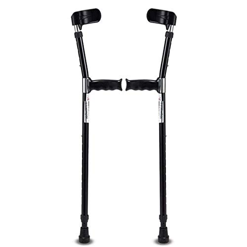 Forearm Crutches Adult 1 Pair - Ergonomic Handle with Comfy Grip - Adjustable Height, High Density Sturdy Aluminum for Standard and Tall Adults - 220lb Max