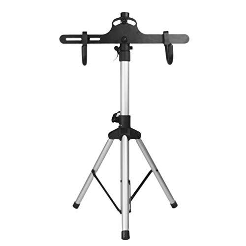 ABOOFAN Soporte de mantenimiento de bicicleta para mecánicos de bicicleta, plegable, ajustable, para taller de mecánico, 72-132 cm de altura, color negro