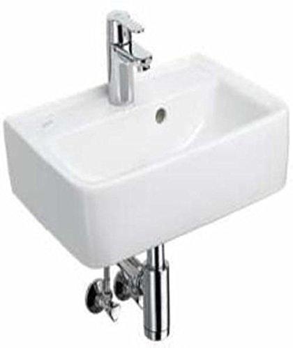 Keramag Renova Plan Design Handwaschbecken 45 cm mit Grohe Einhandmischer Komplett-Set C05145000