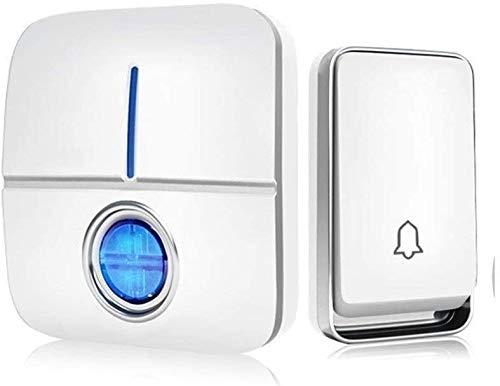 Entrada Bell Home Wireless Doorbell Intelligent Electronic Control Remoto Timbell Llamada remota for la Puerta de Ayuda Chime (Color : Black, Size : B)