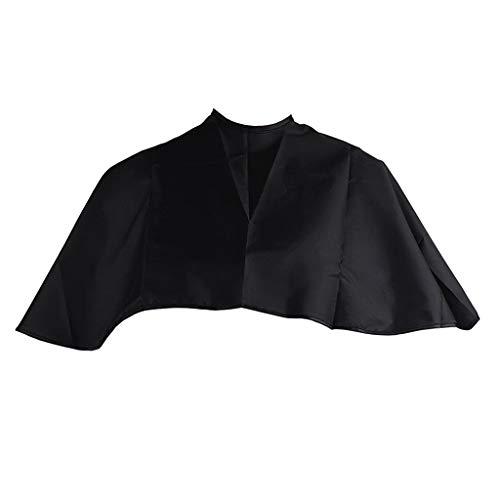 SDENSHI Delantal de Corte de Pelo Negro Impermeable para Adultos, Capa de Corte de Pelo, 70x90 CM