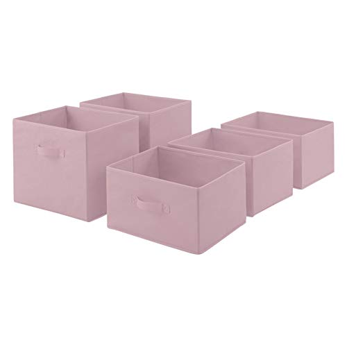 AmazonBasics Fabric 5Drawer Storage Organizer  Replacement Drawers Pale Pink