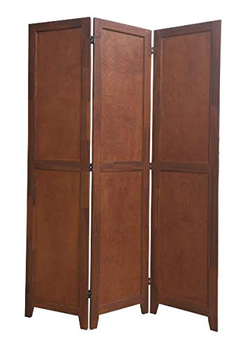 Best Price! Urnporium 3 Panel Wooden Room Divider Partition Privacy Screen 2 Way Hinges