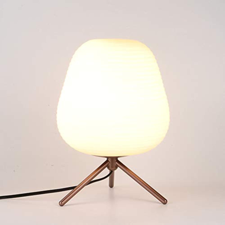 MESST LEDModern minimalistische Tischlampe, verlegte Glas-Tischlampe führte Studenten-Augenschutz-Tischlampe, geeignet für Schlafzimmer,B