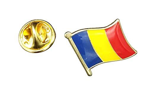 Gemelolandia | Pin de Solapa Bandera Mastil Rumania 16x15mm | Pines Originales Para Regalar | Para las Camisas, la Ropa o para tu Mochila | Detalles Divertidos