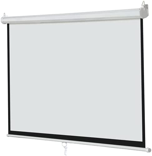 100 Inch 16:9 Manual Pull Down Outdoor Projector Projection Screen Theater Movie