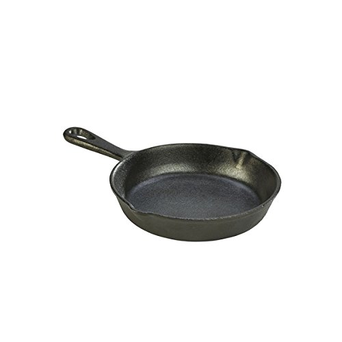 Genware NEV-C153 Mini Cast Iron Fry Pan, 10 cm