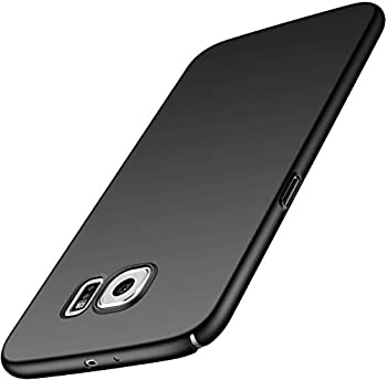 Phone Case for Samsung Galaxy S6 Slim Protective Galaxy S6 Case [Guard from Shock/Scratch/Slip/Fingerprint] [Utra Thin] [Matte Finish] Durable PC Hard Cover for Samsung Galaxy S6 Black