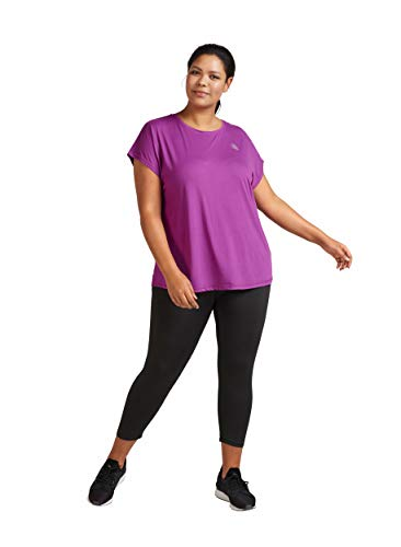 Zizzi ABASIC Damen Trainingshose Sport Leggings Stützende Passform Fitnesshose Yoga Sportshosen, Große Größe 42-56