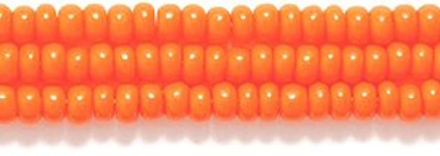 Preciosa Ornela Czech Opaque Seed Bead, Orange, Size 10/0