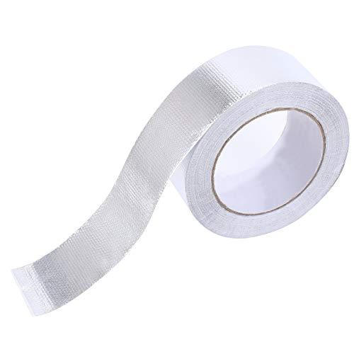 NACTECH Aluminium Klebeband Hitzebeständig Aluminiumband Selbstklebend Aluband 50mmx25m Klebebänder für Abdichten Dämmen Lüftungs- und Klimaanlagen
