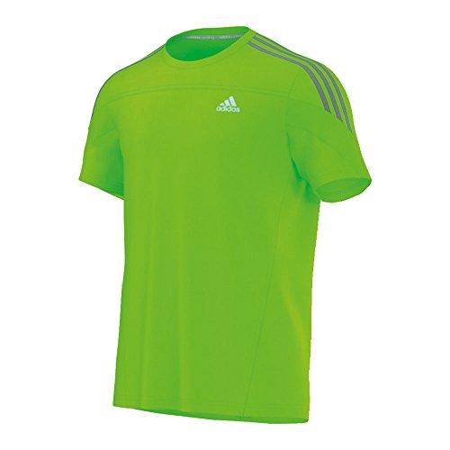 adidas Shirt Response tee - Camiseta de Running para Hombre, Color Verde, Talla S