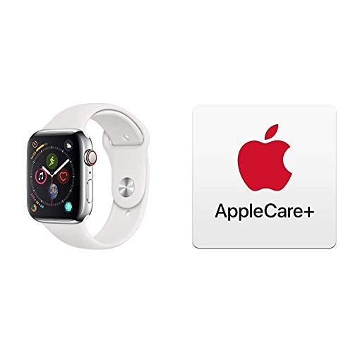 AppleWatch Series4 (GPS+Cellular) con Caja de 44mm de Acero Inoxidable y Correa Deportiva Blanca con AppleCare+