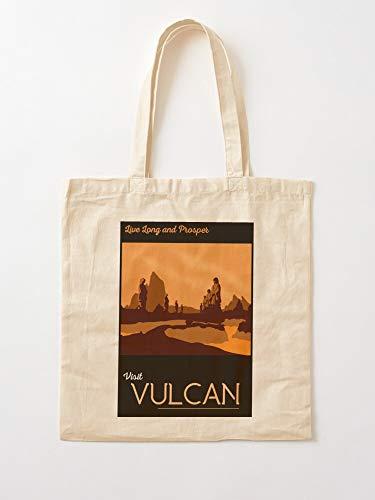 Trek Trekkie Travel Trekker Star Vulcan Spock Startrek_Tpapproved Tote Cotton Very Bag | Canvas Grocery Bags Tote Bags with Handles Durable Cotton Shopping Bags