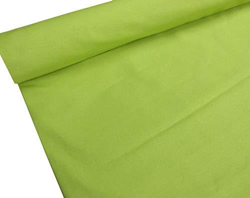 Confección Saymi - Metraje 2,45 MTS. Tejido loneta Lisa Nº 145 Verde Lima con Ancho 2,80 MTS.