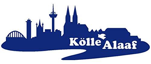Samunshi® Wandtattoo Kölle Alaaf Skyline Wandsticker in 5 Größen und 19 Farben (120x46cm königsblau)
