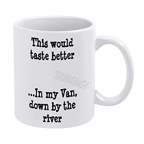 Taza de café, esto sabría mejor en mi furgoneta por Th Travel, taza de café de cerámica blanca de 11 oz, taza de té de 11 oz, regalo, para esposo, esposa, para hombres, para mujeres, producida en los