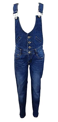 Girls Fashion Tolle Jeans Latzhose für Mädchen, Gr. 128/134, M3731.10