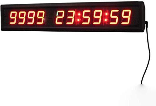 Cuenta Regresiva LED Reloj Digital Reloj De Pared Del Temporizador De Intervalos De Entrenamiento Gimnasio Cronómetro De Cuenta Atrás, Con La Función De Control Remoto, Conveniente For El Hogar, Ofici