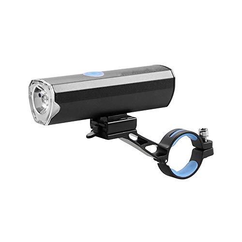 Dabeigouztoud linterna frontal, Luz de bicicleta recargable USB, tiempo de funcionamiento más de 3 horas, 300 lúmenes, 4 modo de luz, adecuado para todas las bicicletas, montaña, carretera