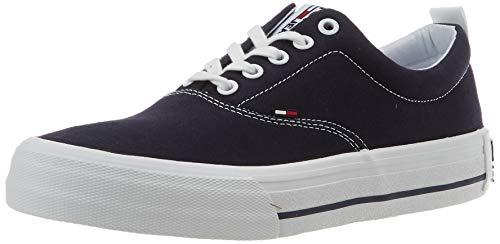 Tommy Hilfiger Classic Low Tommy Jeans Sneaker, Zapatillas Hombre, Azul (Twilight Navy C87), 42 EU