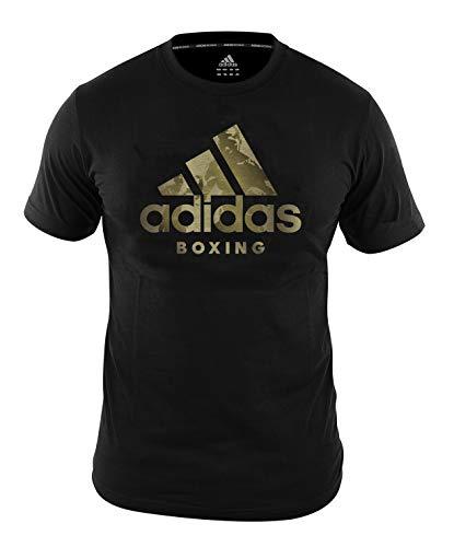 adidas Camiseta de Boxeo para Hombre y Mujer, Camiseta de Entrenamiento de Gimnasio, Color Negro, Talla XL